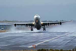 The lifting force at take-off is greater than the weight